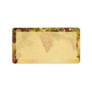 Vineyard Wedding Mailing Address Label