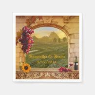 Vineyard Wedding or Thanksgiving Paper Napkins