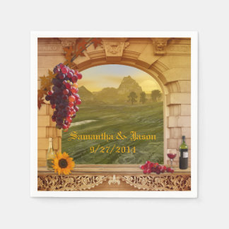Vineyard Wedding or Thanksgiving Paper Napkins