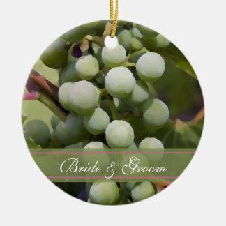 Vineyard Wedding Oval Ornament