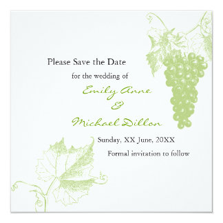 Vineyard Wedding Save the Date Card