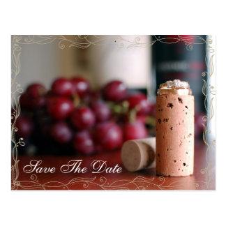 Vineyard Wedding Save The Date Postcards