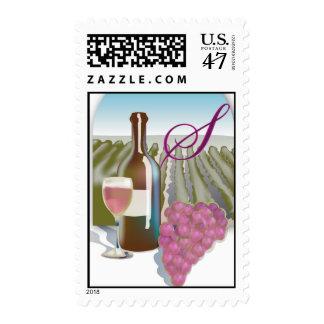 Vineyard Wedding Shower stamp