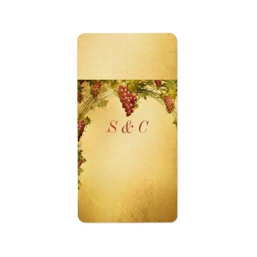 Vineyard wedding small hershey s wrapper label zazzle