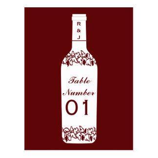 Vineyard Wedding Table Numbers Postcard