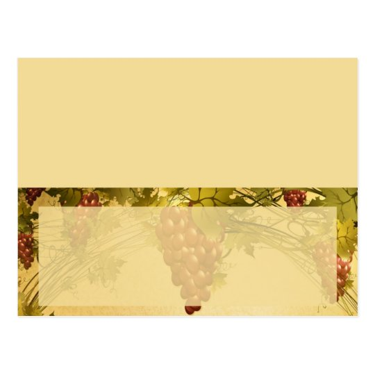 Vineyard Wedding Writable Place Card