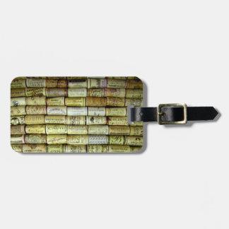 Vineyard Wine Cork Collage Travel Bag Tag
