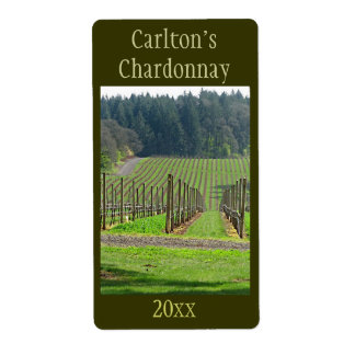 Vineyard Wine Label Shipping Label