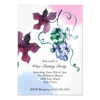 Vineyard Wine Party Magnetic Card