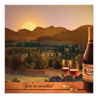 Vineyard Wine Theme Adult Birthday Invitation
