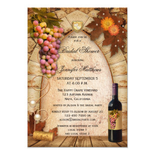 de5516a6ddb4 Vineyard Wine Theme Bridal Shower Invitation