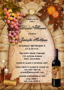 Wine themed bridal shower invitations zazzle vineyard wine theme bridal shower invitation filmwisefo