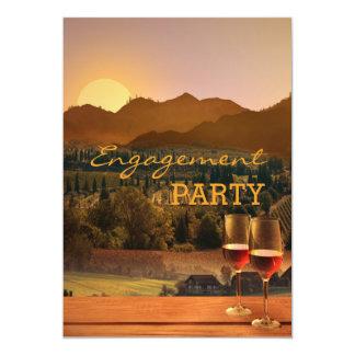 Vineyard Wine Theme Engagement Party Invitation
