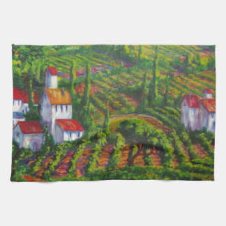 Vineyards and Poppies Towel