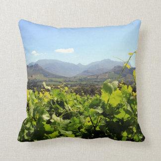 Vineyards in Franschhoek, South Africa Throw Pillow