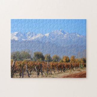 Vineyards In The Fall Of Mendoza, Argentina Puzzle