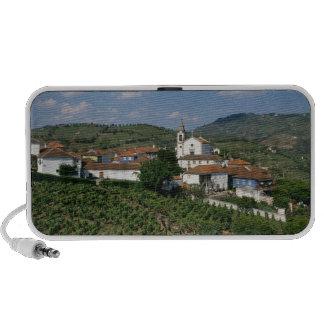 Vineyards, Village of San Miguel, Douro Portable Speaker