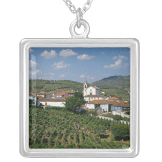 Vineyards, Village of San Miguel, Douro Silver Plated Necklace