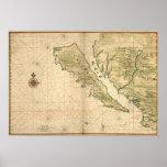 "Vingboons ""California as an Island"" (1650) Reprint Print"