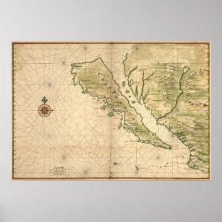 "Vingboons ""California as an Island"" (1650) Reprint Poster"