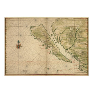 "Vingboons ""California como 1650) reimpresiones de Póster"