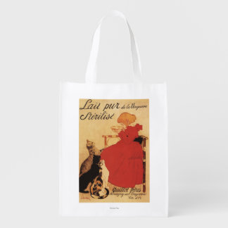 Vingeanne Milk Girl with Cats Grocery Bags