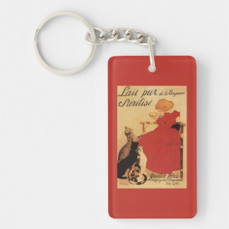 Vingeanne Milk Girl with Cats Keychain