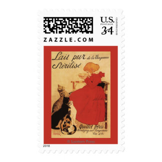 Vingeanne Milk Girl with Cats Postage