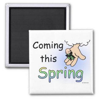 Viniendo este imán de la primavera