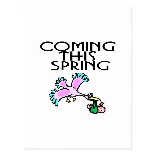 Viniendo este primavera tarjetas postales