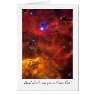 Viniendo hacia fuera suerte, nebulosa NGC 2467 en  Tarjeta