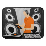 Vinilo de giro urbano de DJ en las cubiertas Organizadores