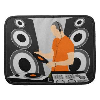 Vinilo de giro urbano de DJ en las cubiertas Organizador