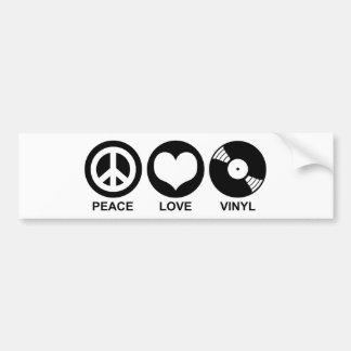 Vinilo del amor de la paz pegatina para auto
