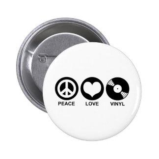 Vinilo del amor de la paz pins