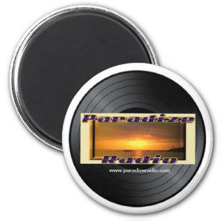 Vinilo retro de radio de Paradize/imán de registro Imán Redondo 5 Cm