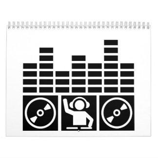 Vinilos de DJ del equalizador Calendarios De Pared