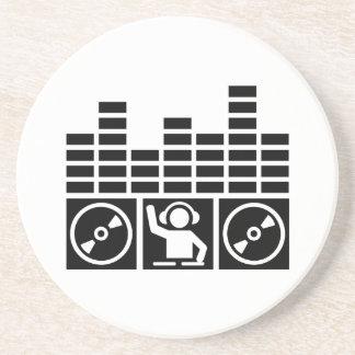 Vinilos de DJ del equalizador Posavasos Personalizados