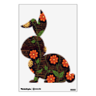 Vining Flowers-Fall Colors Bunny Wall Decal