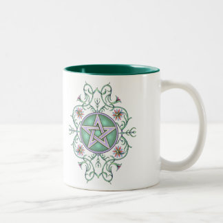 Vining Pentagram Drinkware Two-Tone Coffee Mug