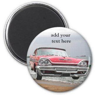 vinitage pink DeSoto 2 Inch Round Magnet
