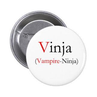 Vinja - Vampire Ninja Pinback Button