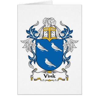 Vink Family Crest Card