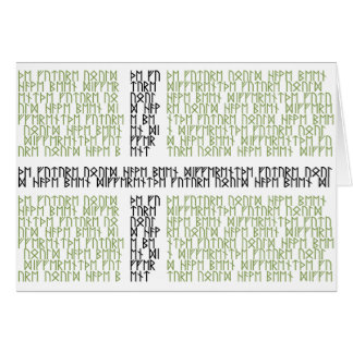 Vinland Flag w Runes - Card