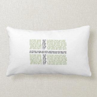 Vinland Flag w Runes - Lumbar Pillow