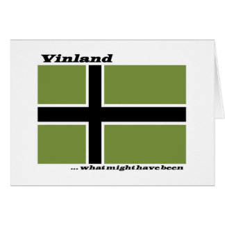 Vinland Flag - What Might Have Been Stationery Note Card