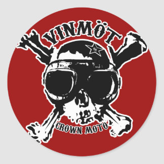 VINMOT Speed Demon (crisp) Classic Round Sticker