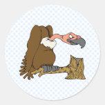 Vinnie Vulture Classic Round Sticker