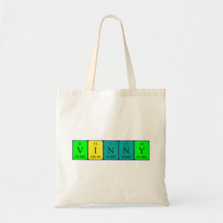 Vinny periodic table name tote bag