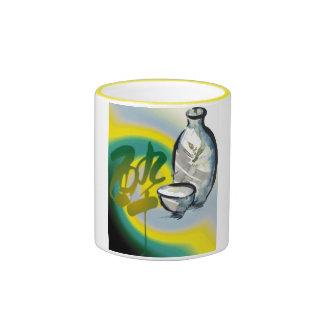 vino, agua de la vida taza de dos colores